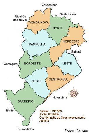 contagem brasil mapa Geografia de Belo Horizonte MG   Ache Tudo e Região contagem brasil mapa